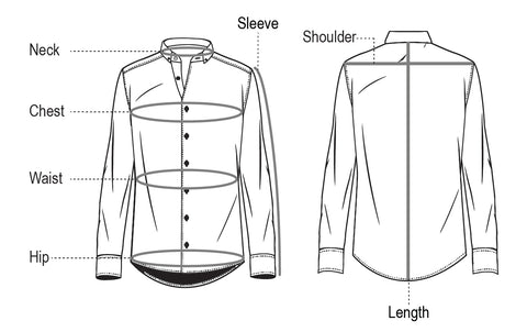 Dress Shirt Measurement Guidelines