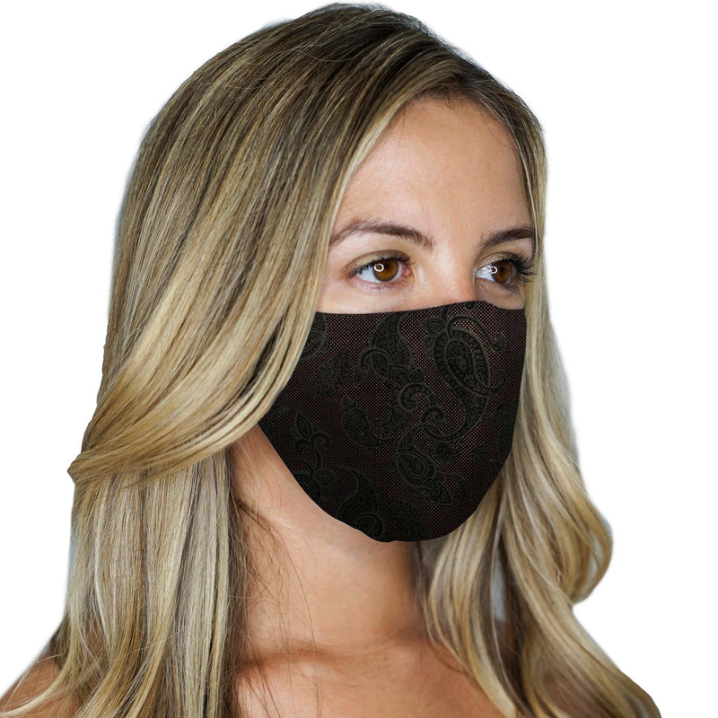 2 Reversible Face Masks Paisley