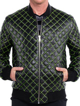Leather QuiltGreen Black