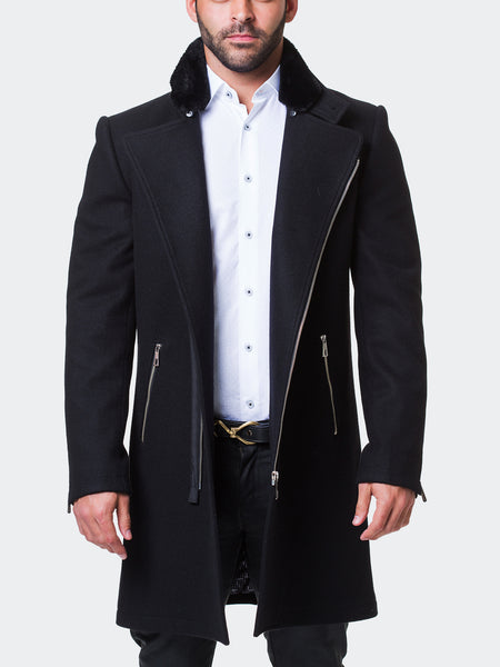 Peacoat Fur Zip Black