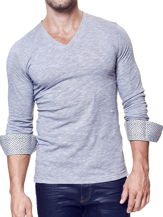 V-Neck Charcoal | by MACEOO - V-Neck LS - Maceoo - 1