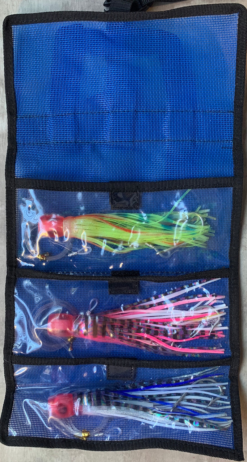 Lure Wrap (3pc) with rigged lures