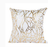 Throw Pillow Case with Gold Foil Accent