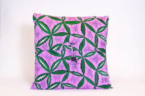 Throw Pillow Covers (Purple/Green)