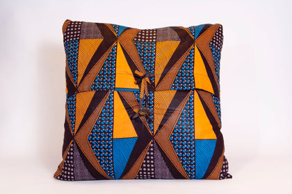 Throw Pillow Covers (Blue/Yellow)