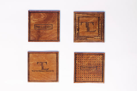 Wooden Lampley Coasters