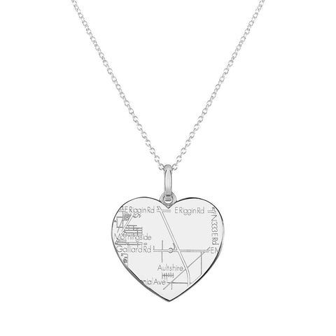 Sterling Silver Heart Pendant with a Diamond