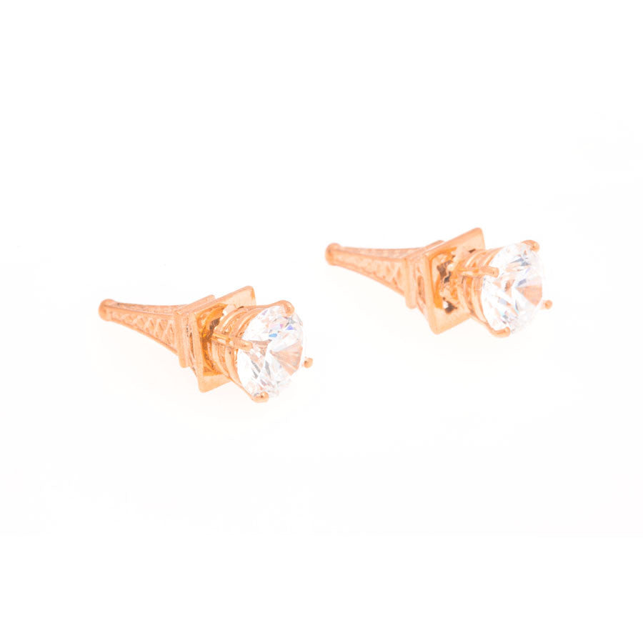 Eiffel Tower Earrings - Rose