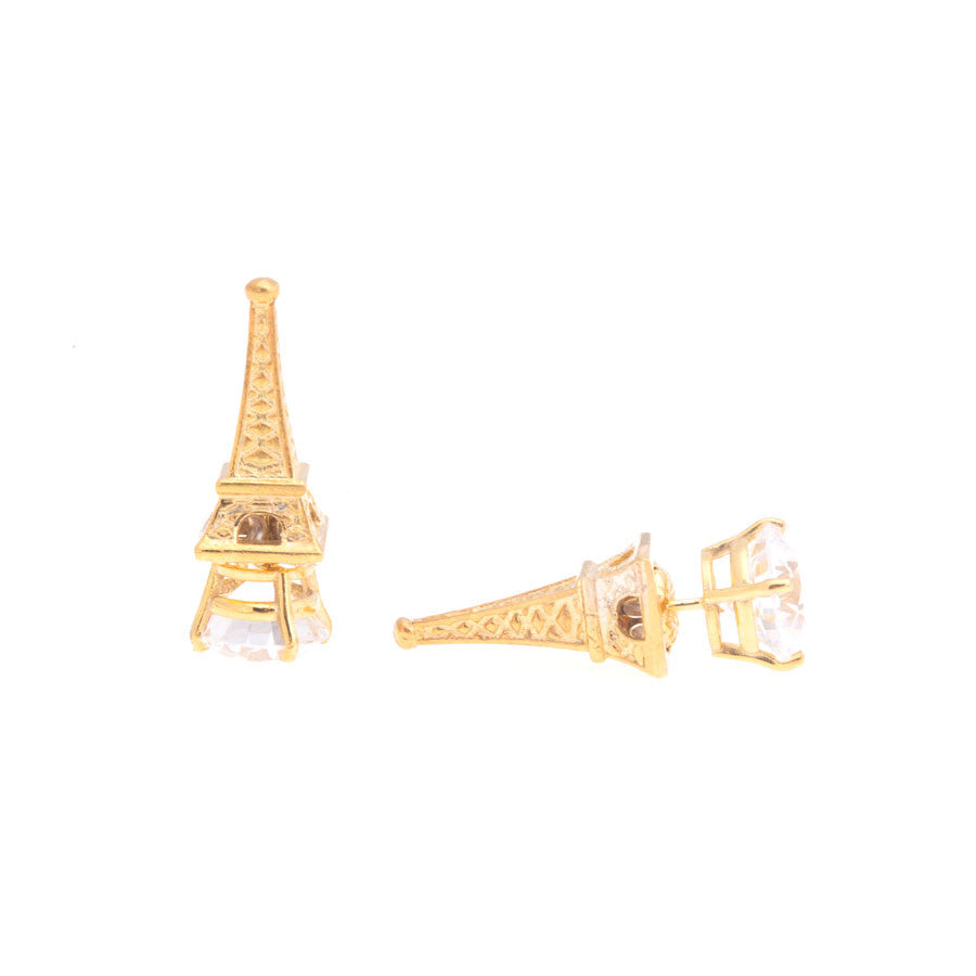 Eiffel Tower Earrings - Yellow
