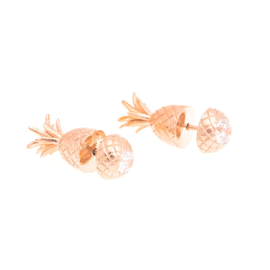 Pineapple Earrings - Rose