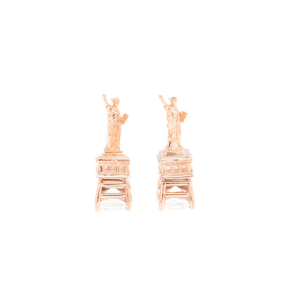 Statue of Liberty Earrings - Rose