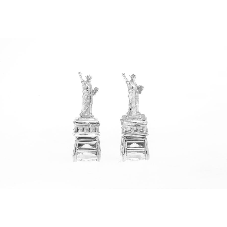 Statue of Liberty Earrings - Silver
