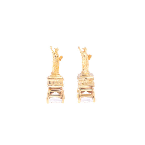 Statue of Liberty Earrings - Yellow