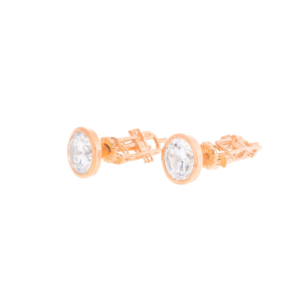 Trumpet Earrings - Rose Gold