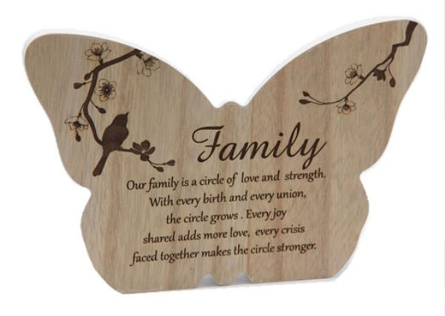 Butterfly 'Family' Plaque