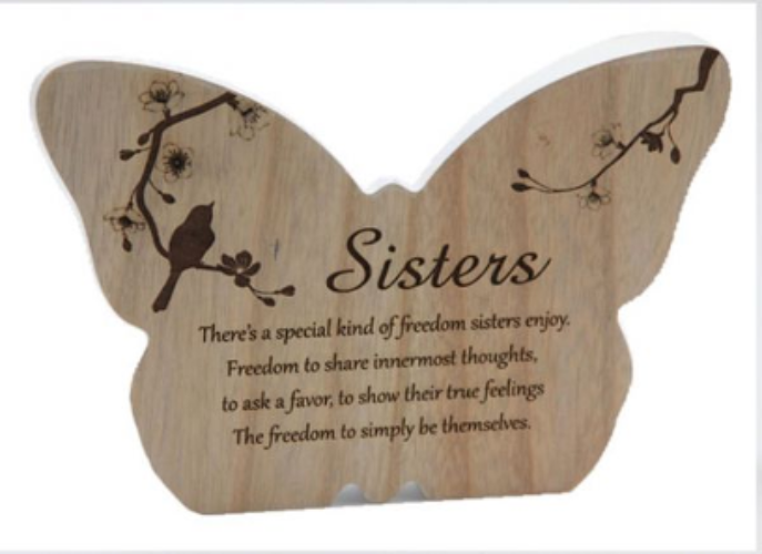 Butterfly 'Sister' Plaque