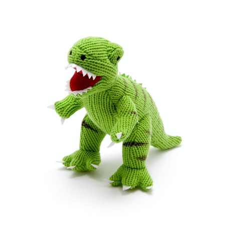 Green Knitted T-Rex