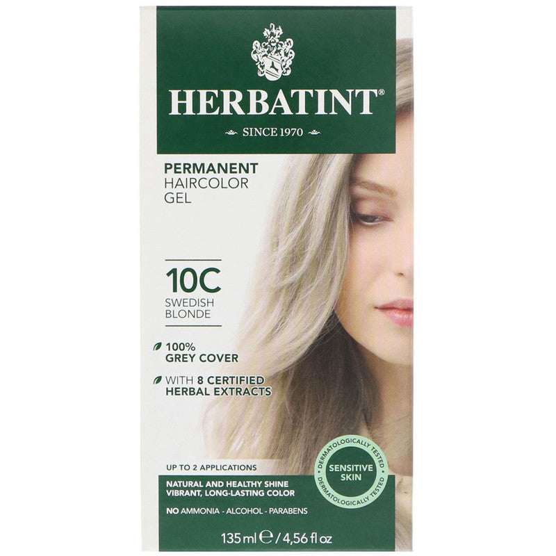 Herbatint Permanent Hair Color Gel - Swedish Blonde 10C