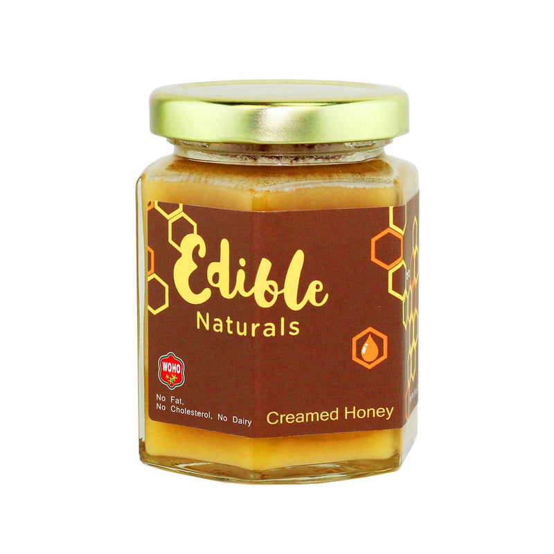 WOHO 100% Pure Creamed Raw Honey, Original - 8oz (226g)