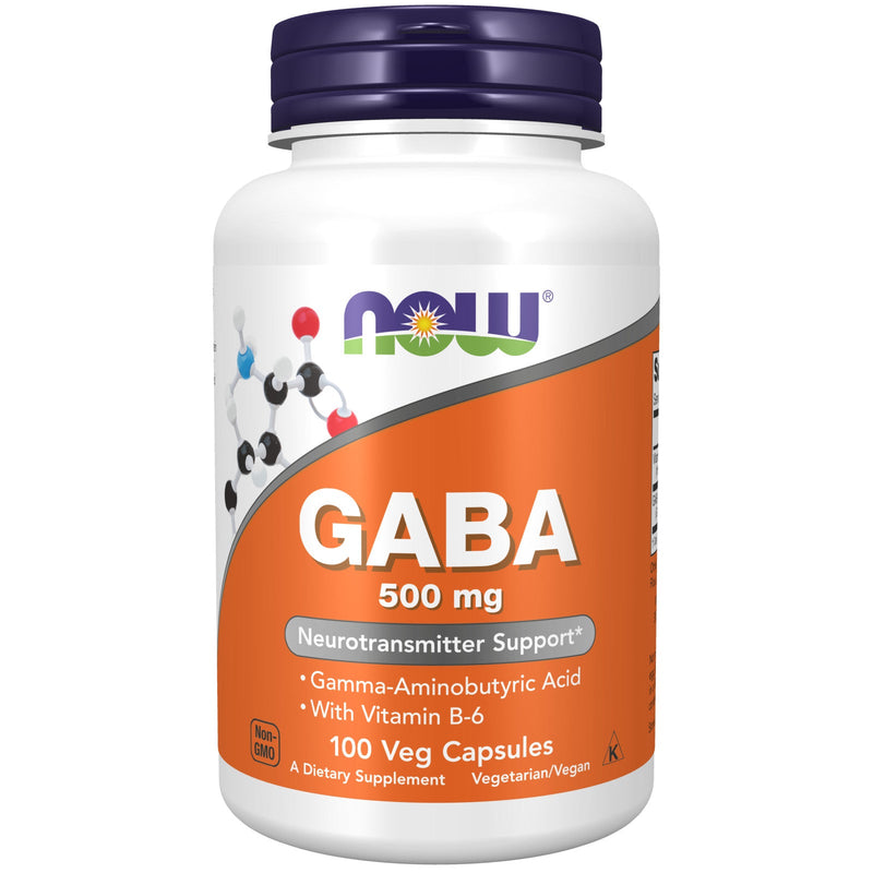 Now GABA, 500 mg - 100 Capsules