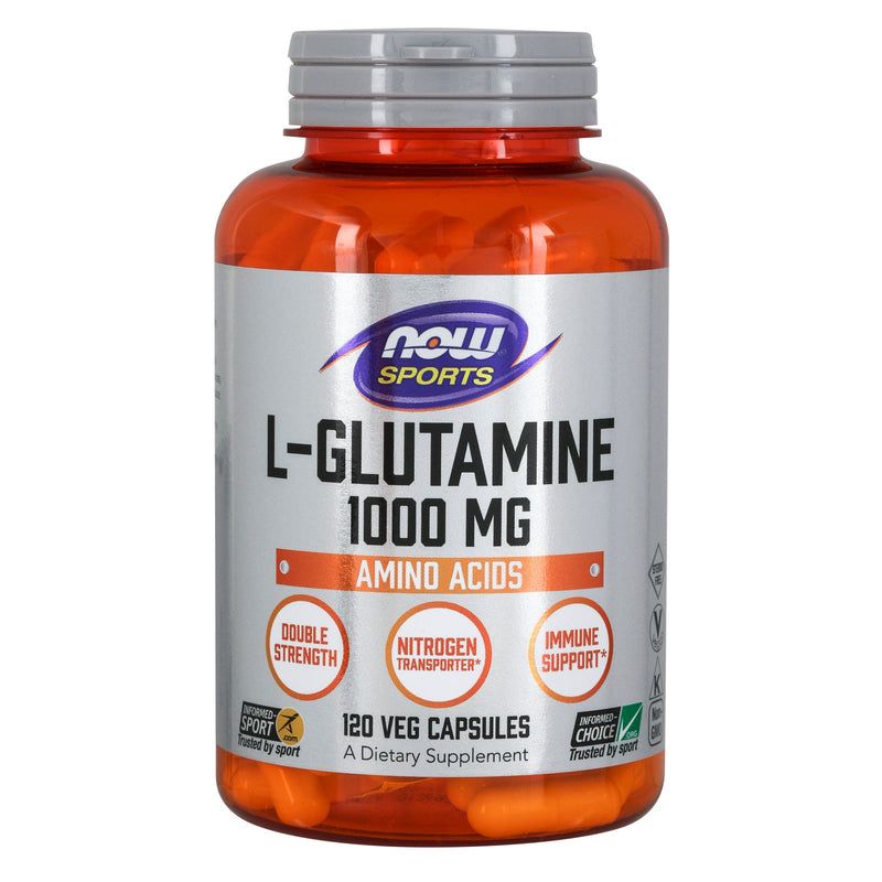 Now Sports L-Glutamine, 1000 mg - 120 Capsules