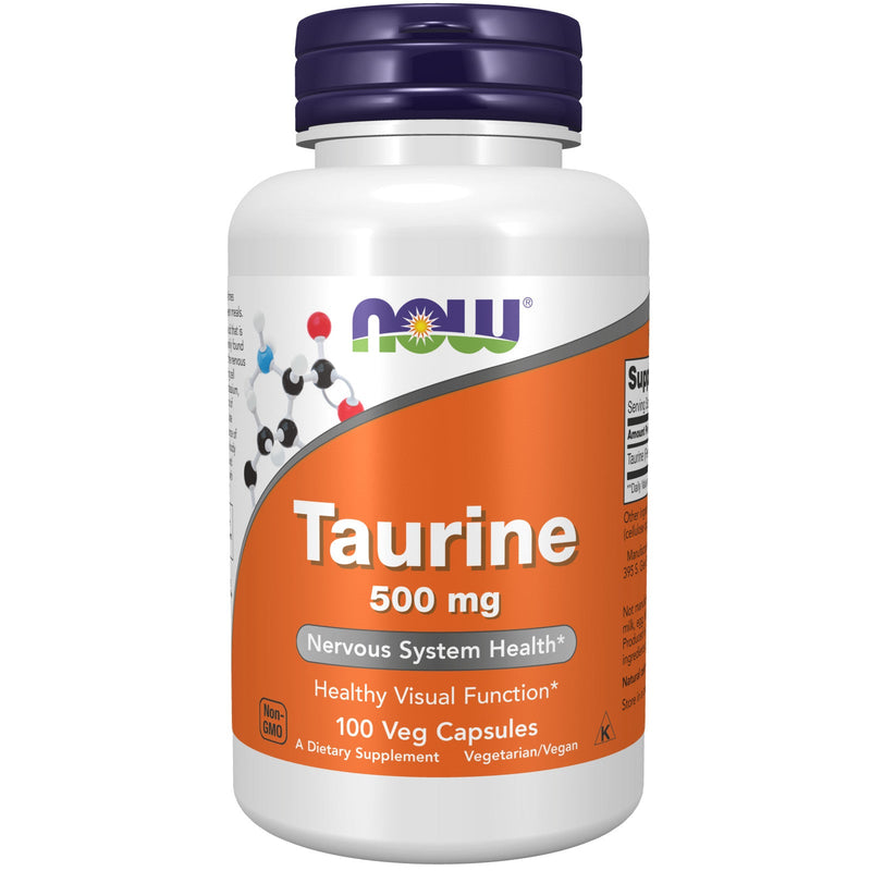 Now Taurine 500 mg - 100 Capsules