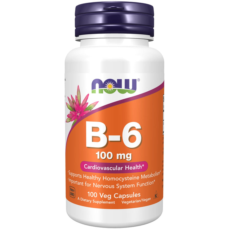 Now Foods Vitamin B-6, 100 mg - 100 Capsules