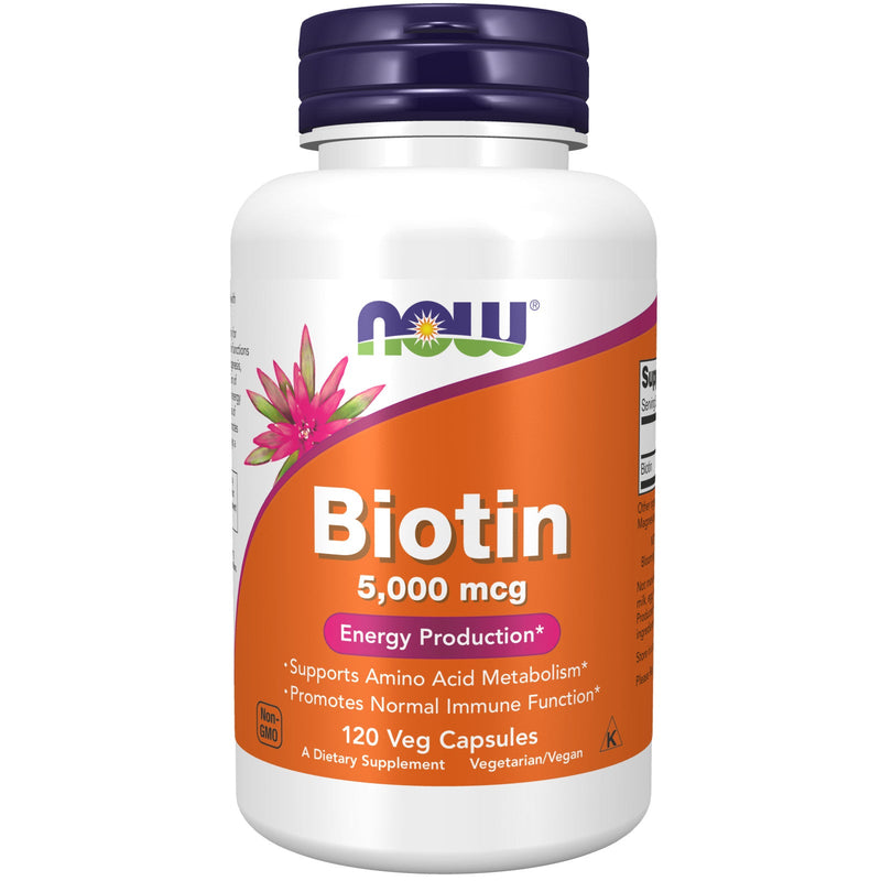 Now Foods Biotin, 5000 mg - 120 Vegetarian Capsules