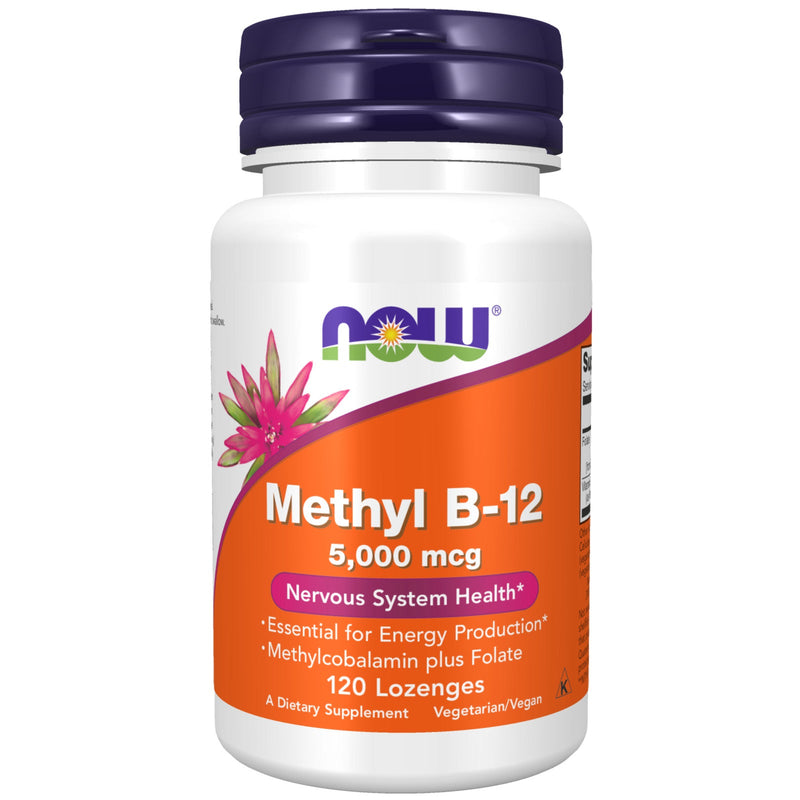 Now Foods Methyl B-12 5000 mcg - 120 Lozenges