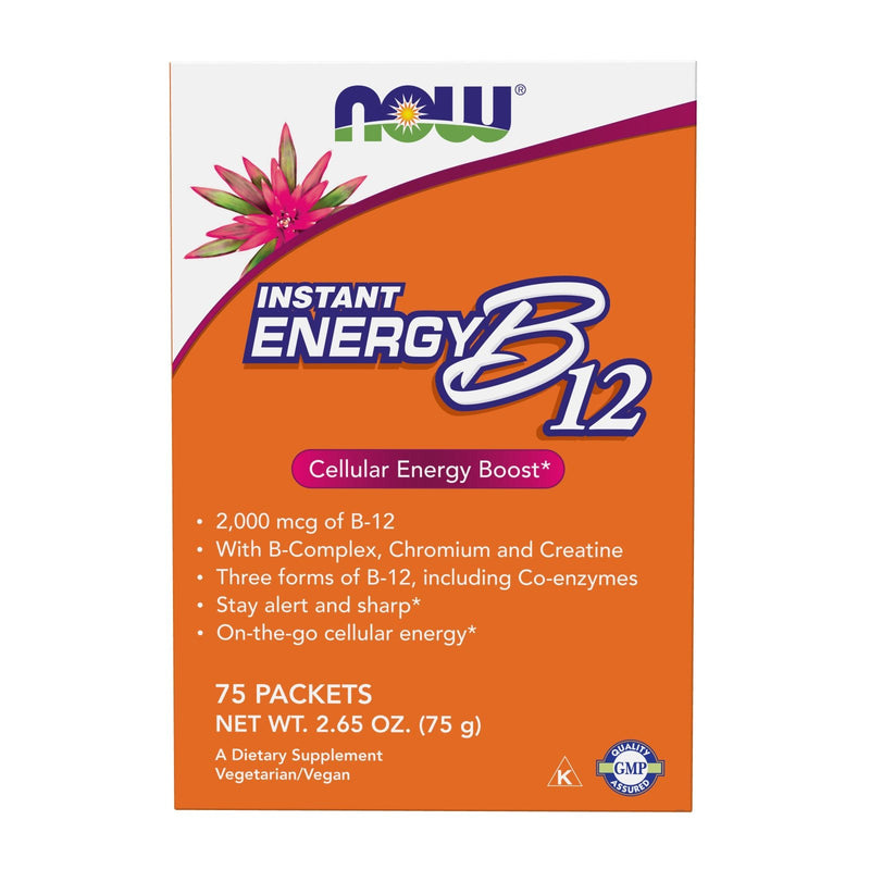 Now Foods B-12 Instant Energy, Single Serve Packets - 75 Count