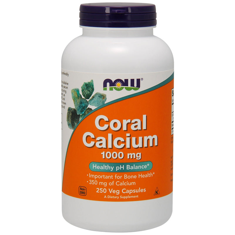 Now Foods Coral Calcium, 1000 mg - 250 Vegetable Capsules