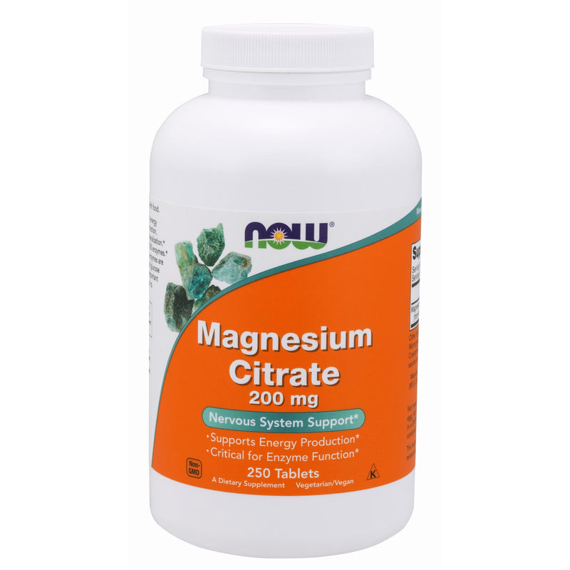 Now Foods Magnesium Citrate 200Mg 250 Tabs