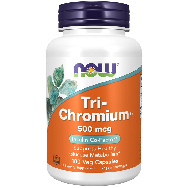 Now Foods Tri-Chromium 500Mcg + Cinnam 180 Vcaps