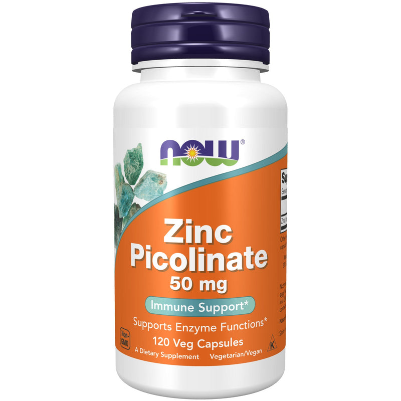 Now Foods Zinc Picolinate 50 mg - 120 Veg Capsules