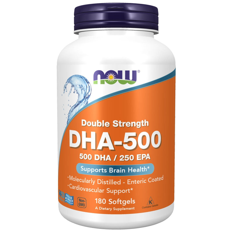 Now Foods DHA-500 - 180 Softgels