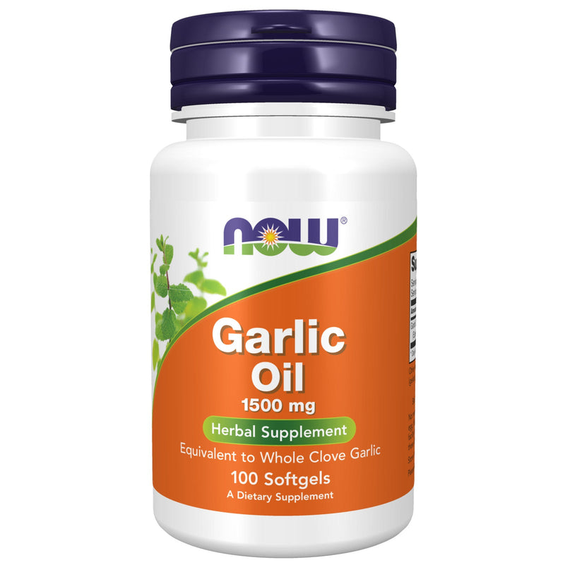 Now Foods Garlic Oil Triple Strength 1500 mg - 100 Gels