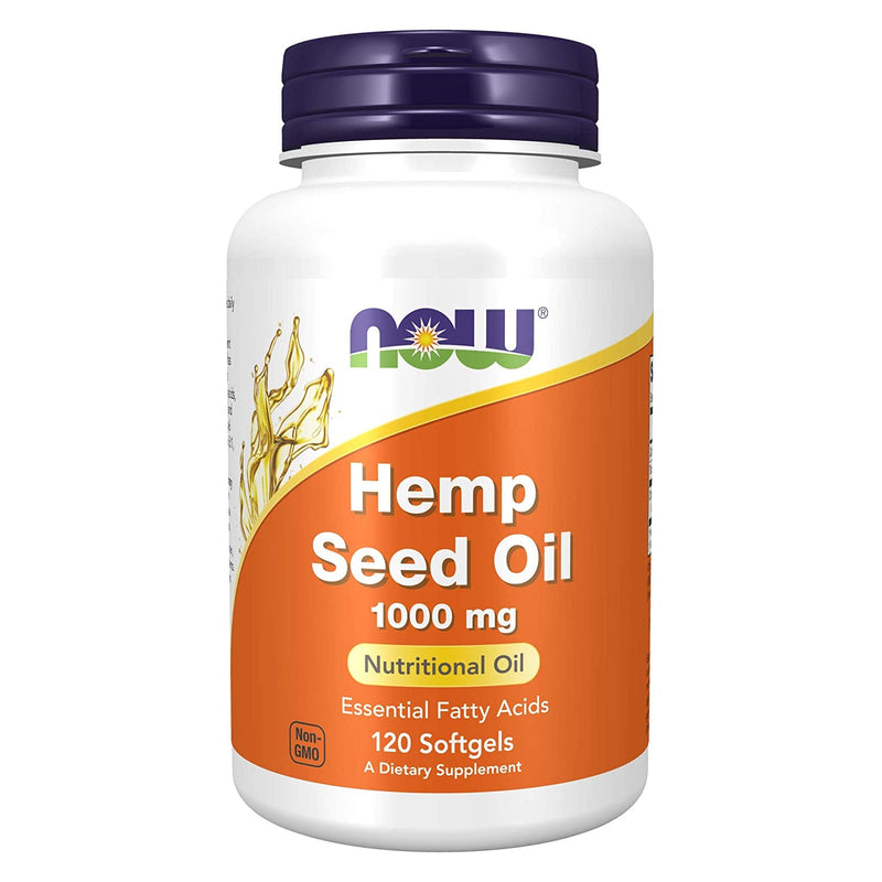 Now Hemp Seed Oil, 1000 mg - 120 Softgels
