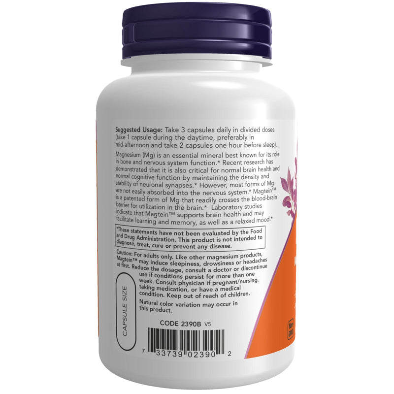 Now Foods Magtein - 90 Veg Capsules
