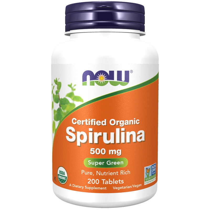 Now Foods 100% Natural Spirulina 500 mg - 200 Tablets