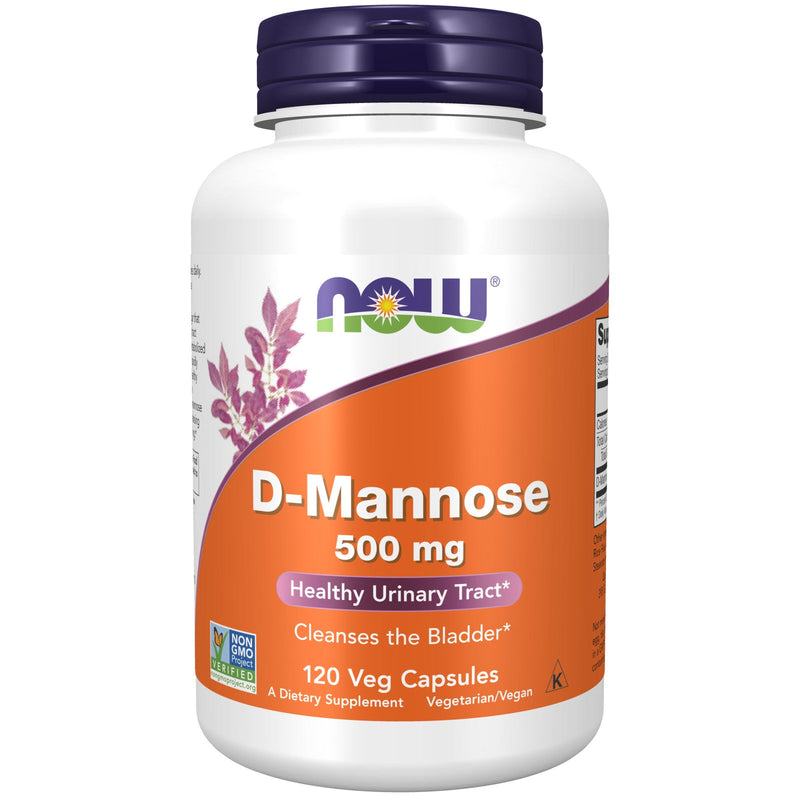 Now Foods D-Mannose 500 mg - 120 Veg Capsules