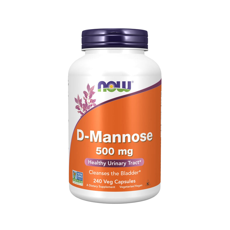 Now Foods D-Mannose 500 mg - 240 Veg Capsules