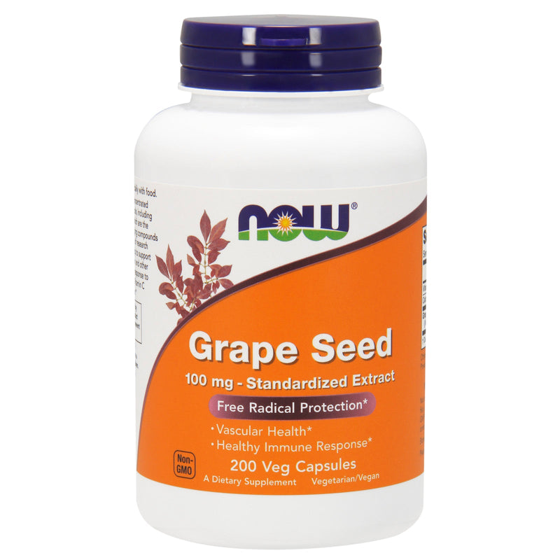Now Grape Seed 100 mg - 200 Vcaps@