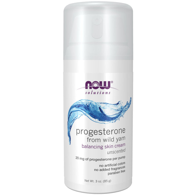 Now Foods Natural Progesterone Balancing Skin Cream - 3 oz.