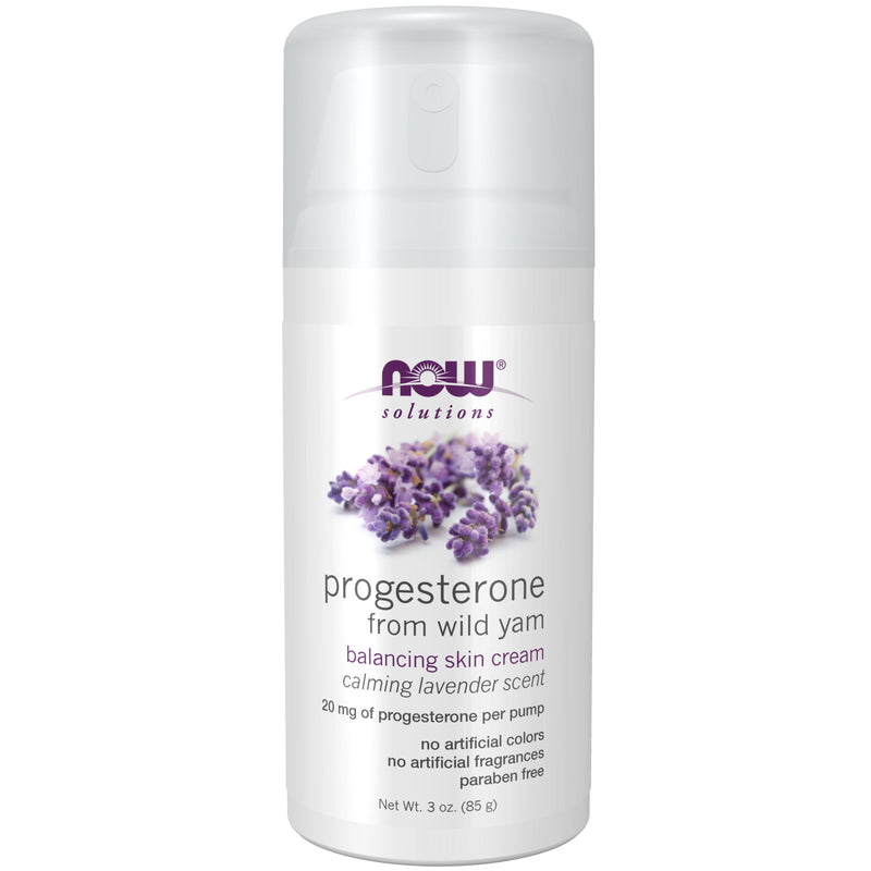 Now Natural Progesterone Liposomal Skin Cream with Lavender 3oz