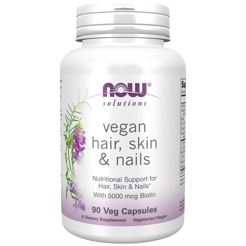 Now Foods Hair, Skin & Nails, Vegan - 90 Veg Capsules