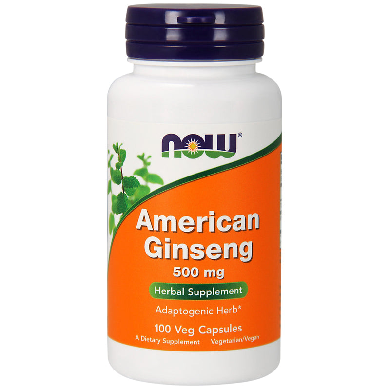 Now FOOD American Ginseng 500mg 100 Veg Capsules