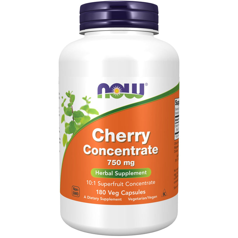 Now Black Cherry Fruit Concentrate 750 mg - 180 Veg Capsules