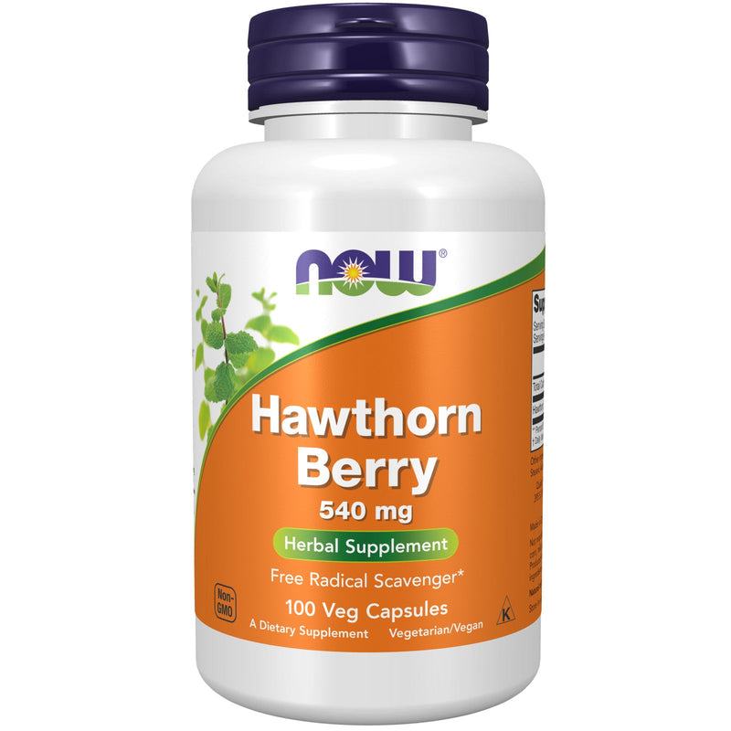 Hawthorn Berry 540 mg - 100 Vegetable Capsules