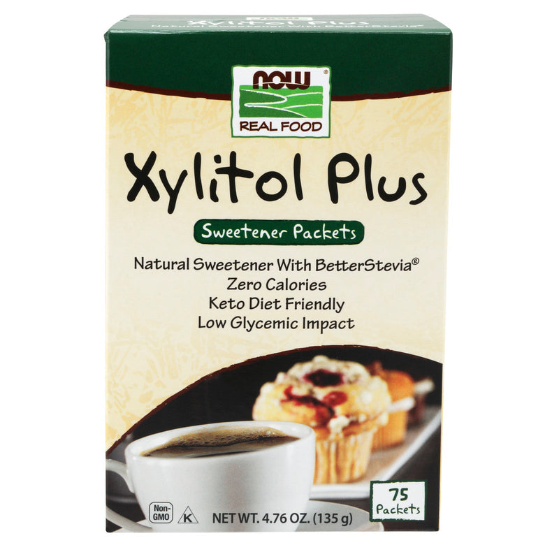 Now Foods Xylitol Plus - 75 Packets
