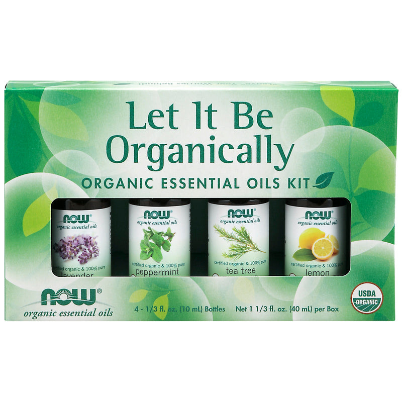 Now Let It Be Organic Essential Oils Kit - 4 Bottles, 10 ml Each